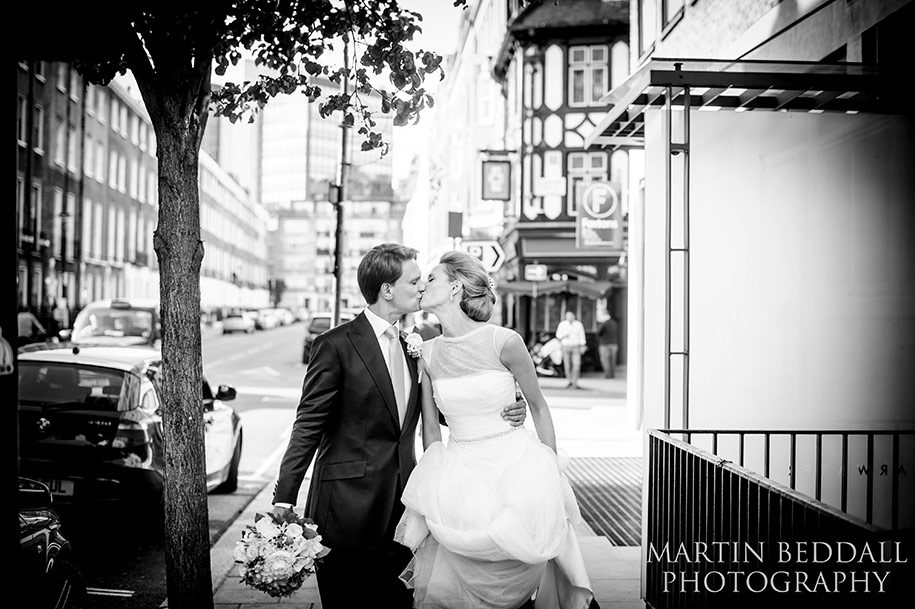 Reportage of a bride and groom portrait