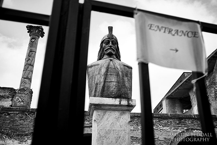 Statue of Vlad Tepes in Bucharest