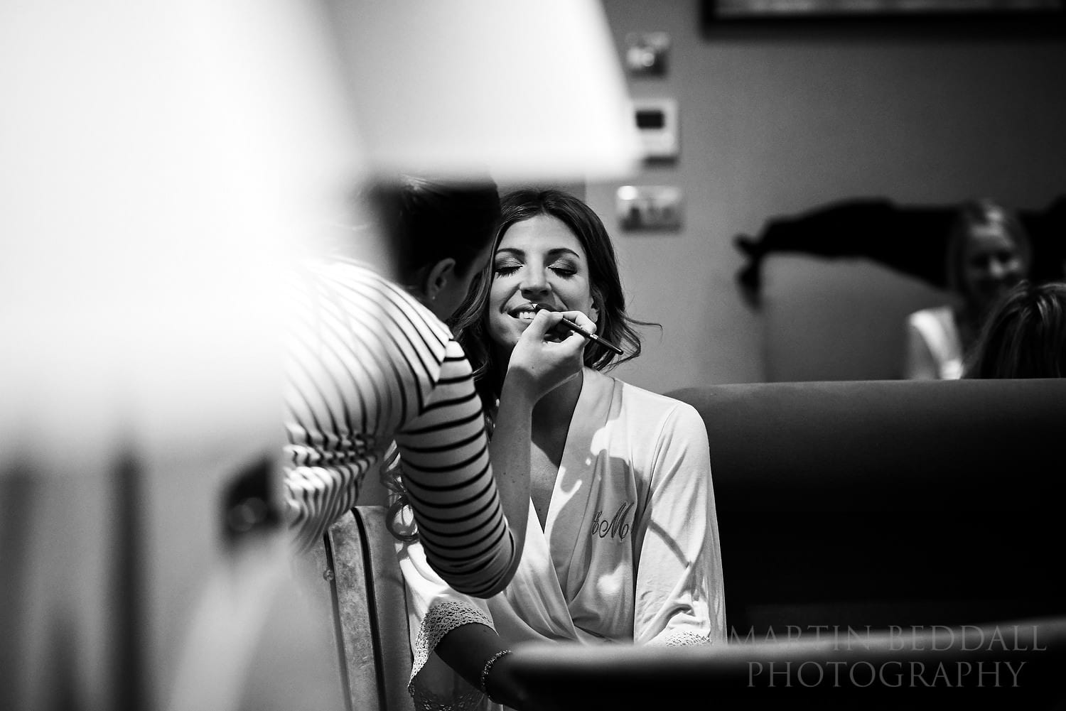 Bride getting ready at Flemings Mayfair