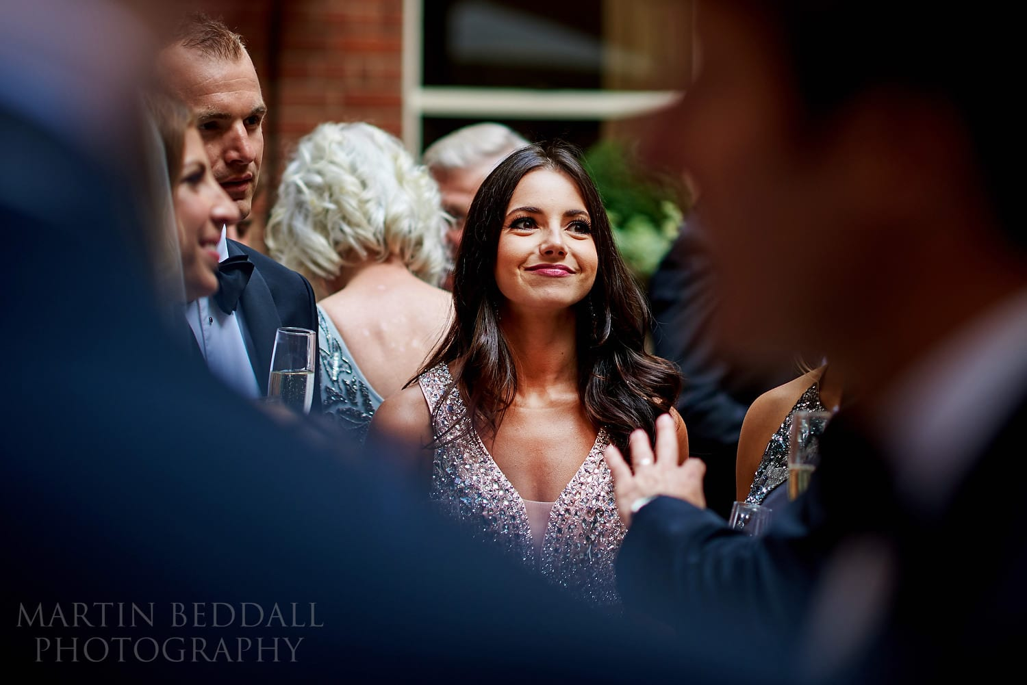 Glamourous guest at Lansdowne Club wedding