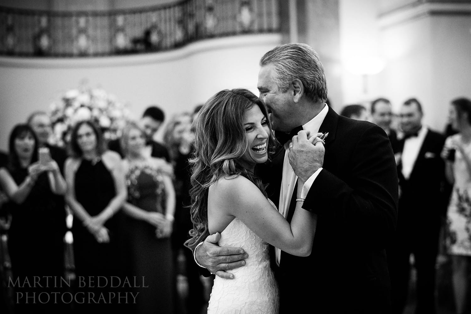 Bride dances with her father at Lansdowne Club wedding