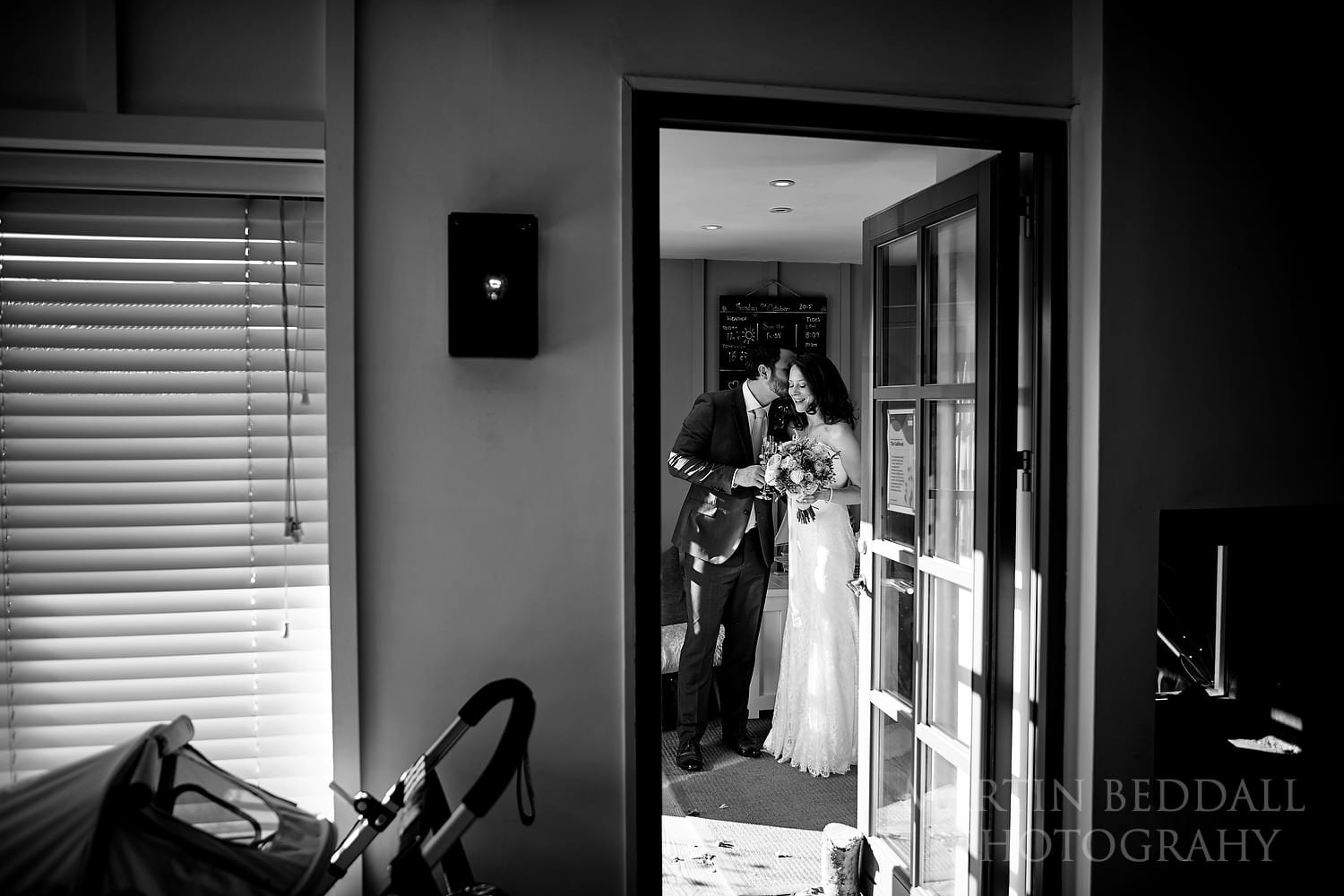 Quiet moment after the wedding ceremony