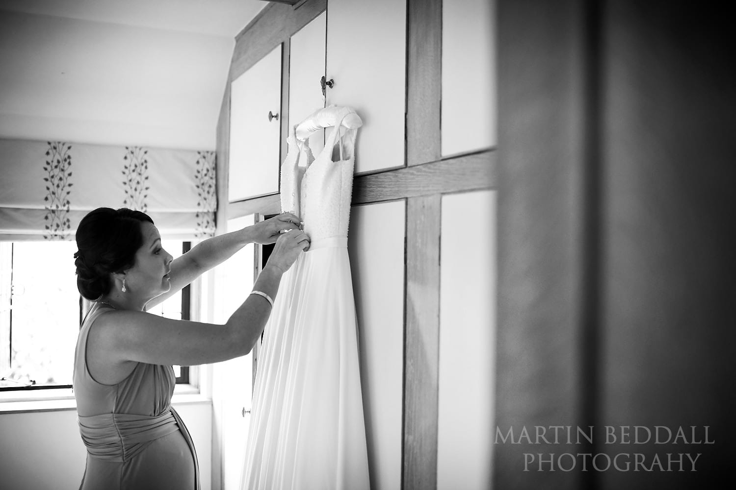 Sorting out the wedding dress