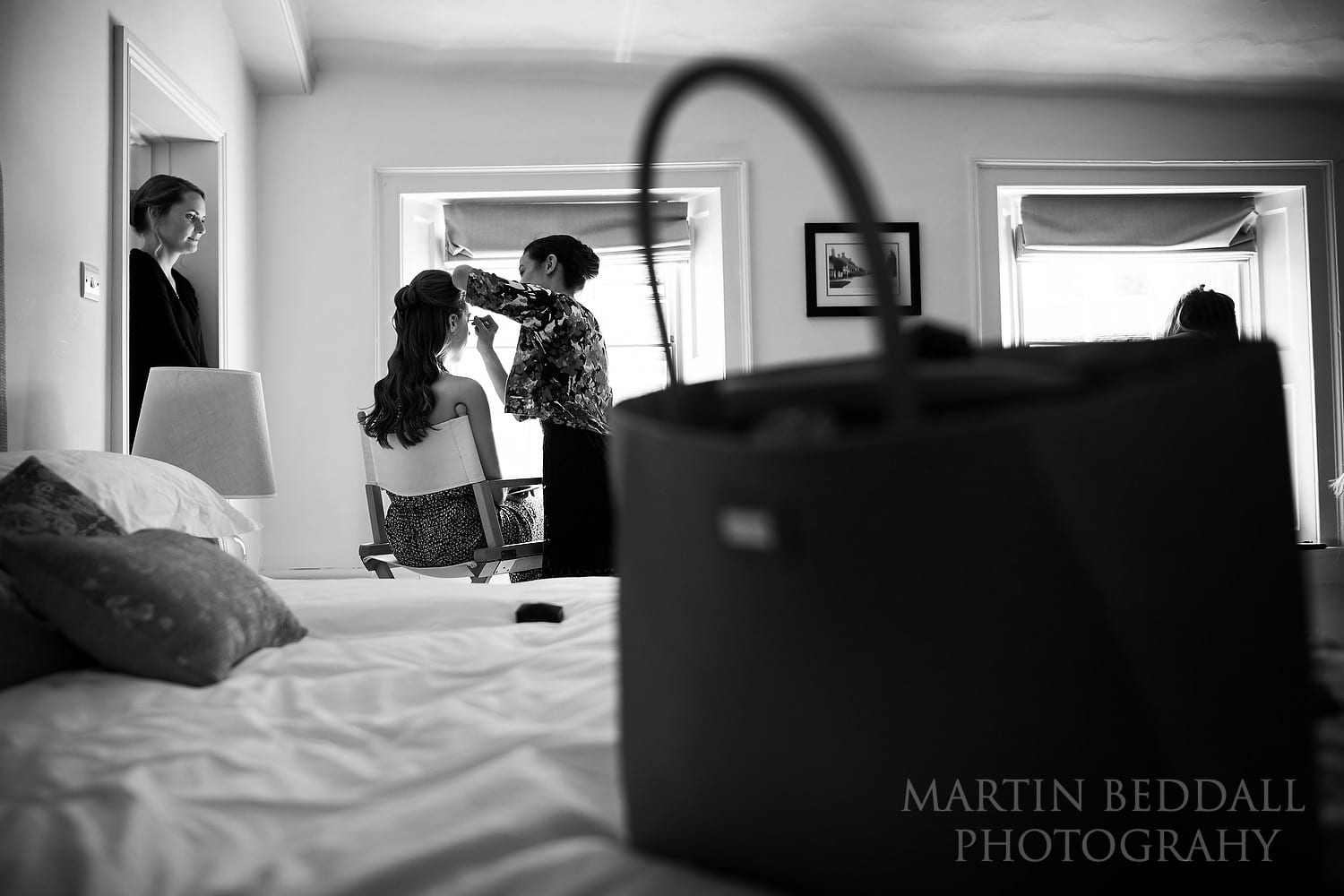 Bride getting ready for a Northbrook Park wedding