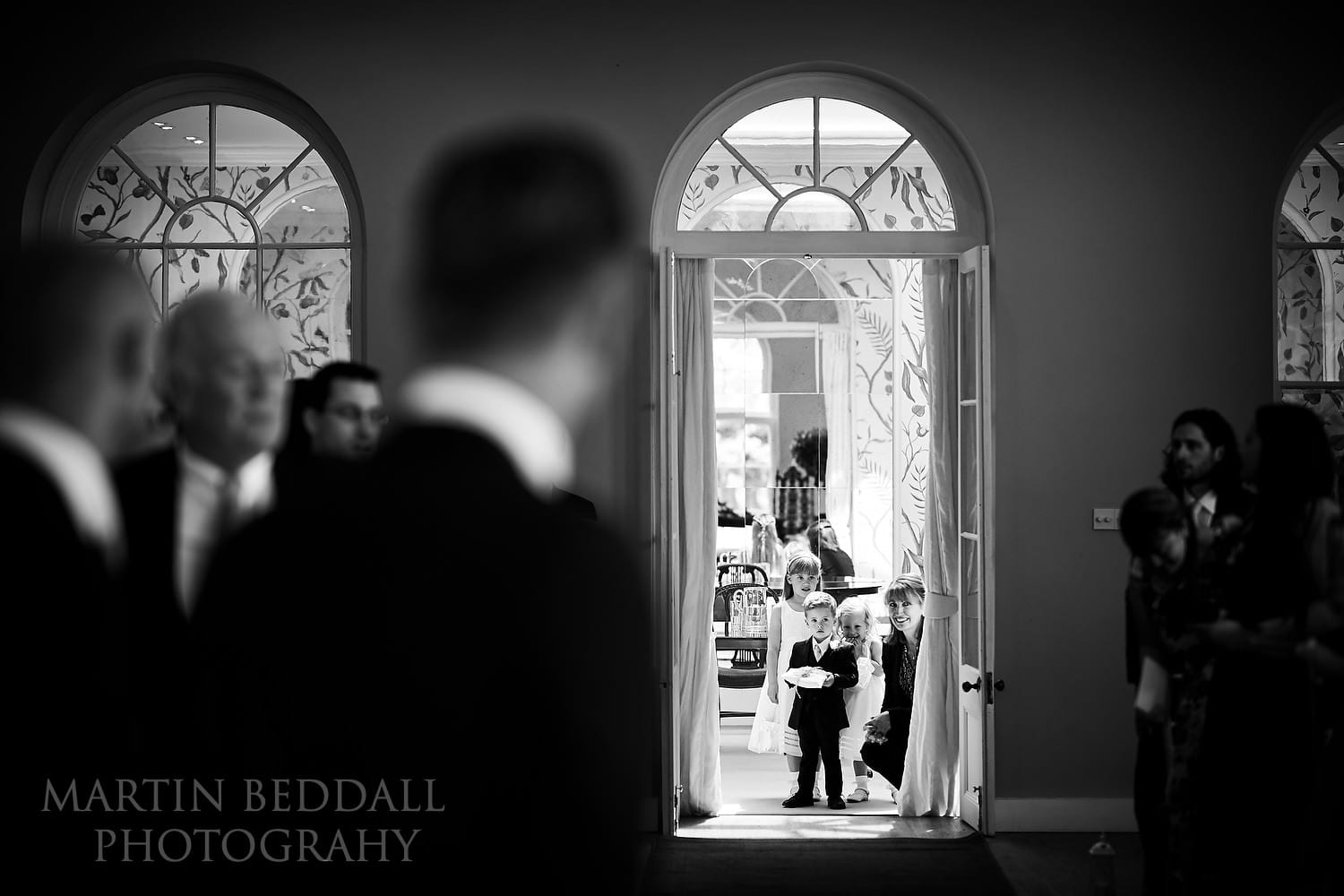 Start of the wedding ceremony at Braxted Park