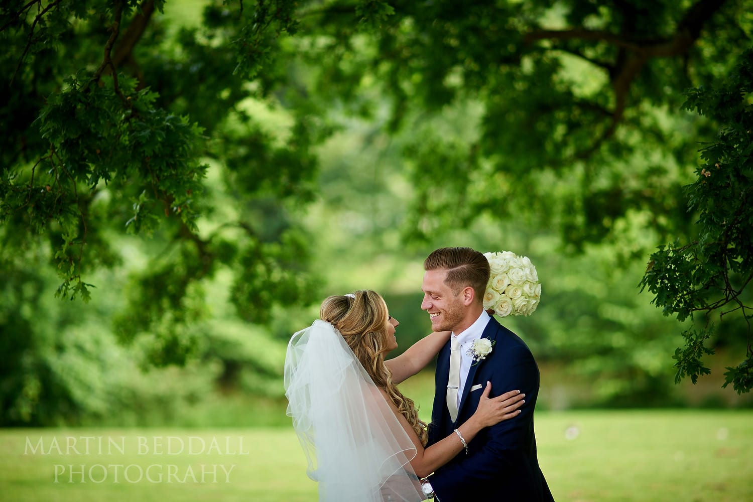 Braxted Park bride and groom
