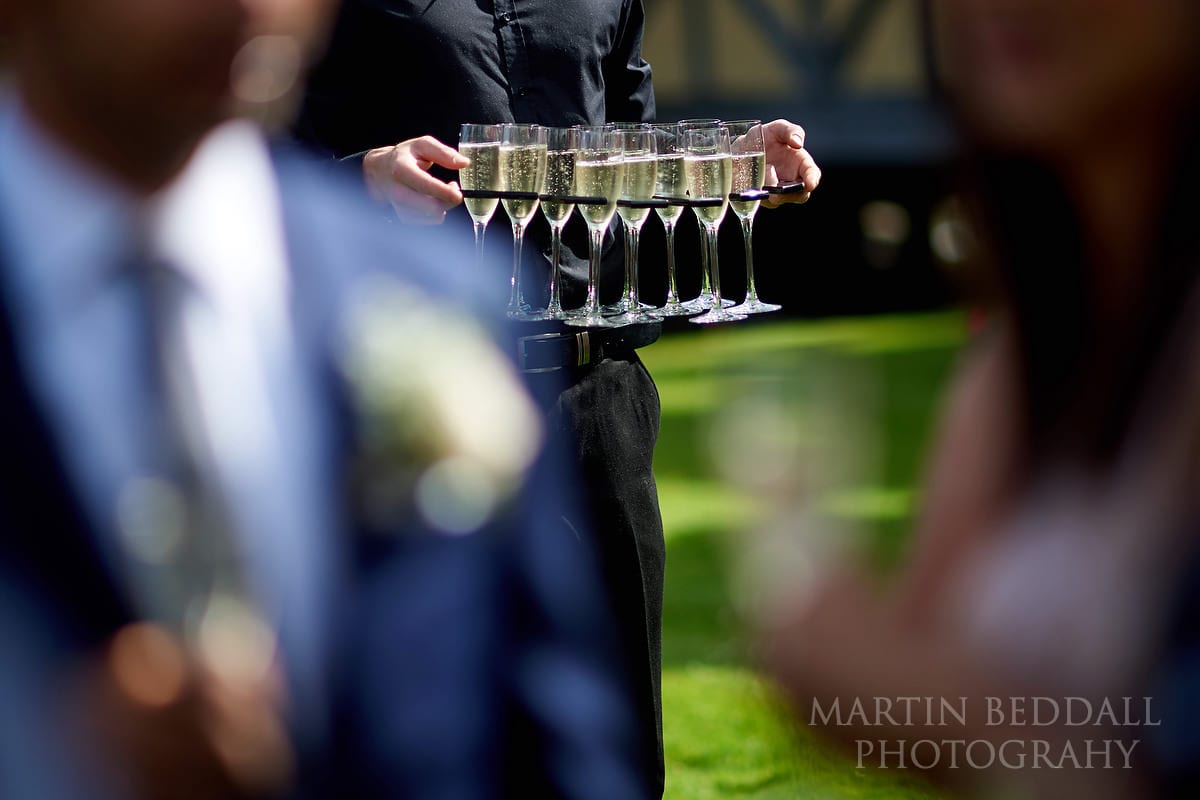 Drinks at Hever Castle wedding