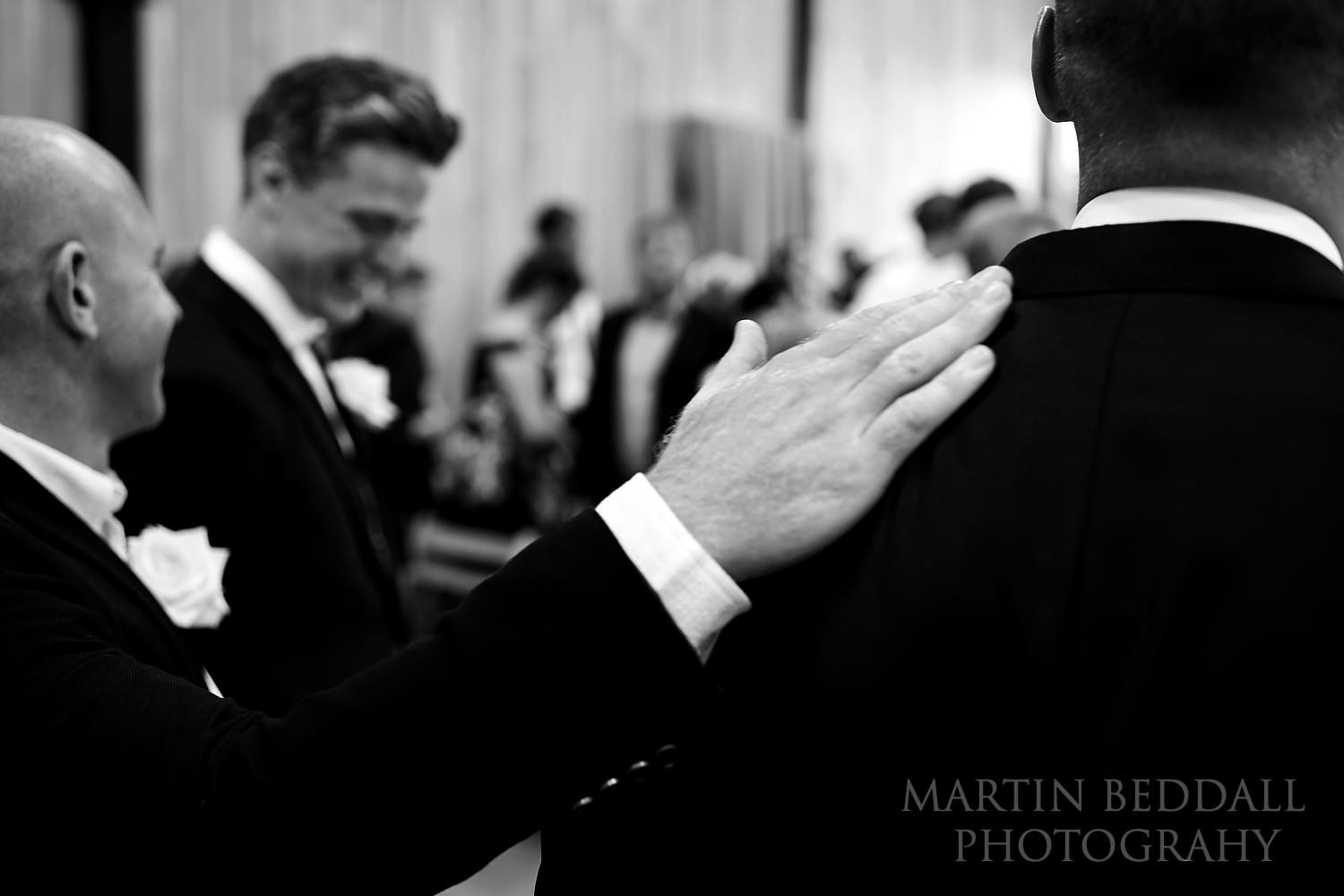 Encouragement for the groom ahead of the wedding ceremony