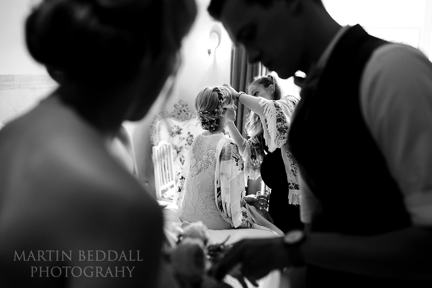 Getting ready for this East Sussex wedding