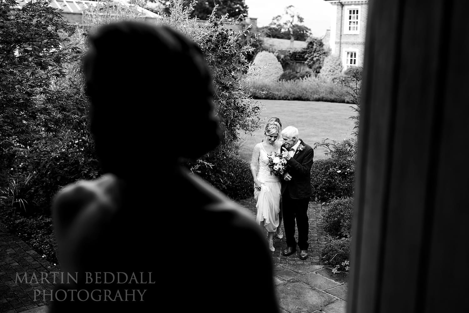 Last advice from her father for this East Sussex wedding bride