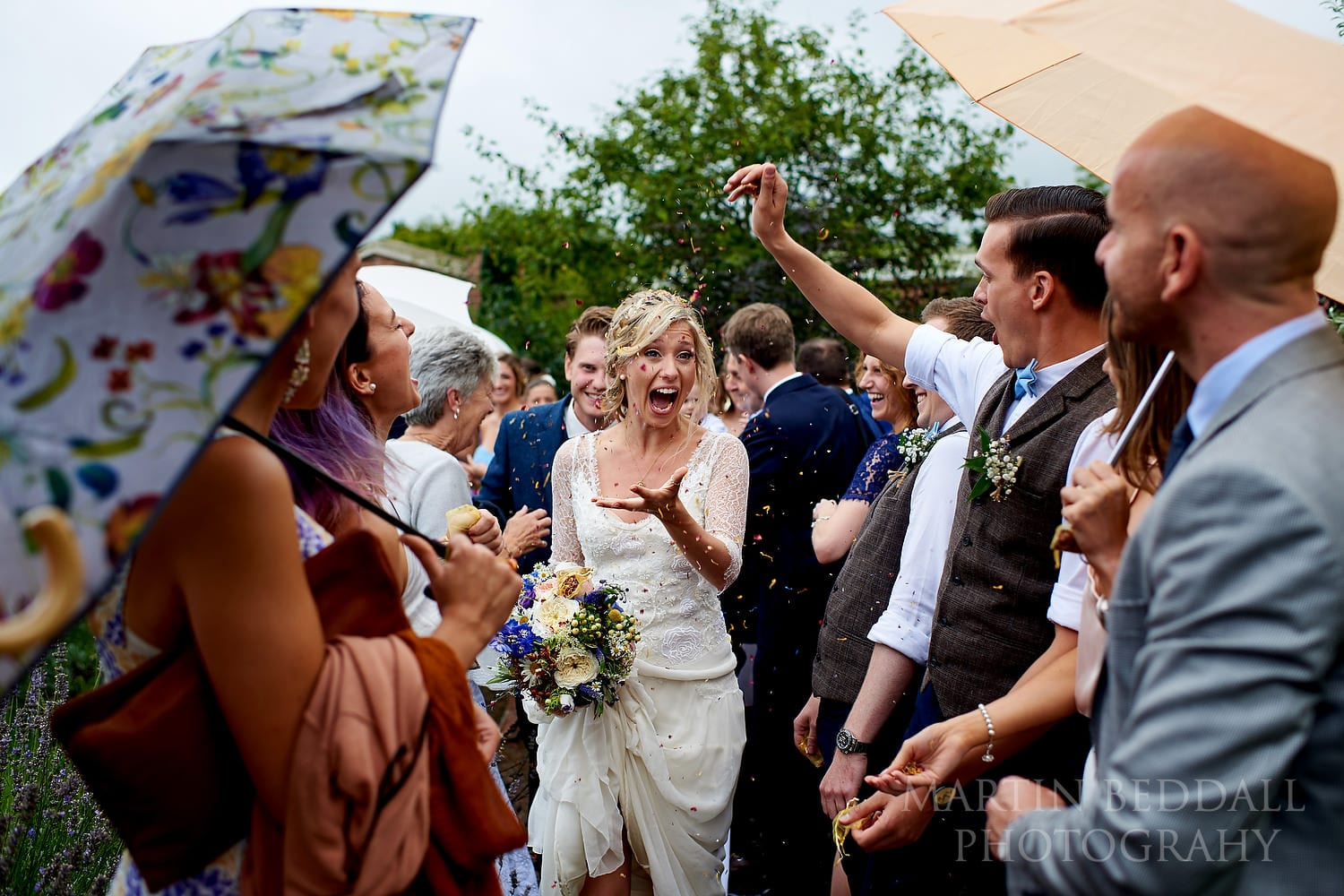 Confetti at East Sussex wedding
