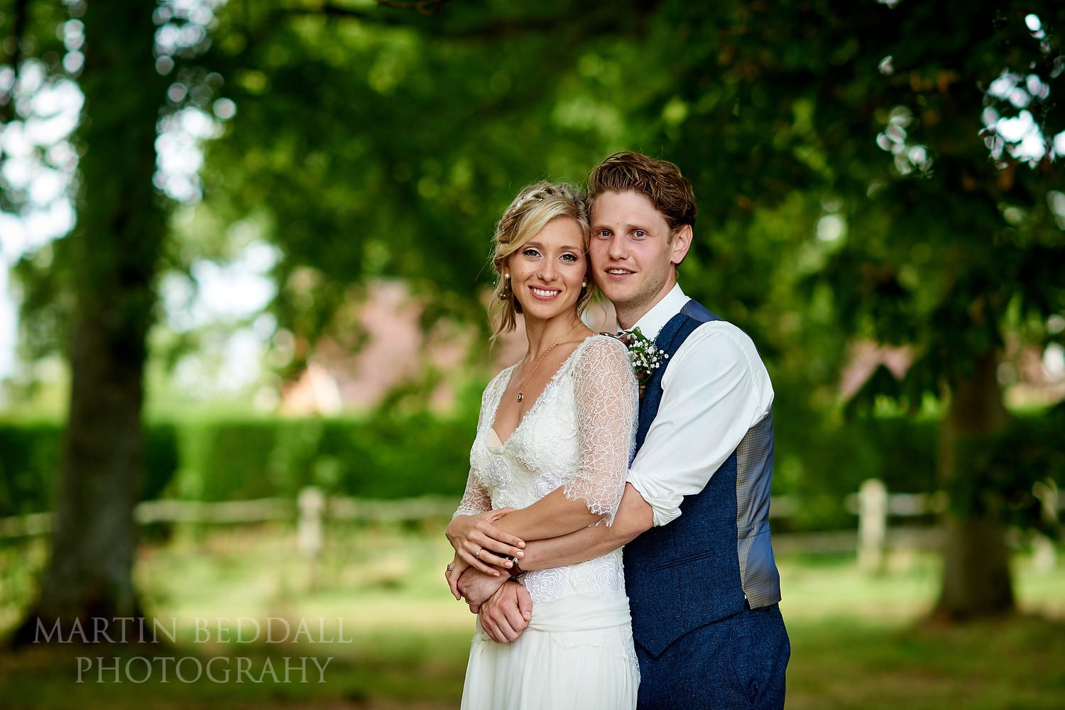 Bride and groom portrait at East Sussex wedding