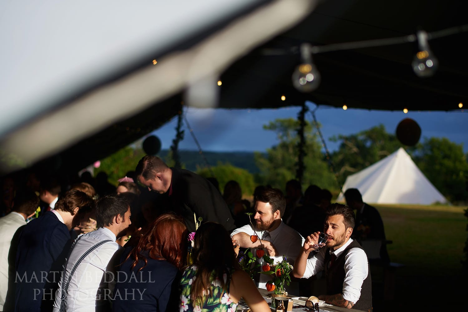 East Sussex wedding festival style in a tipi