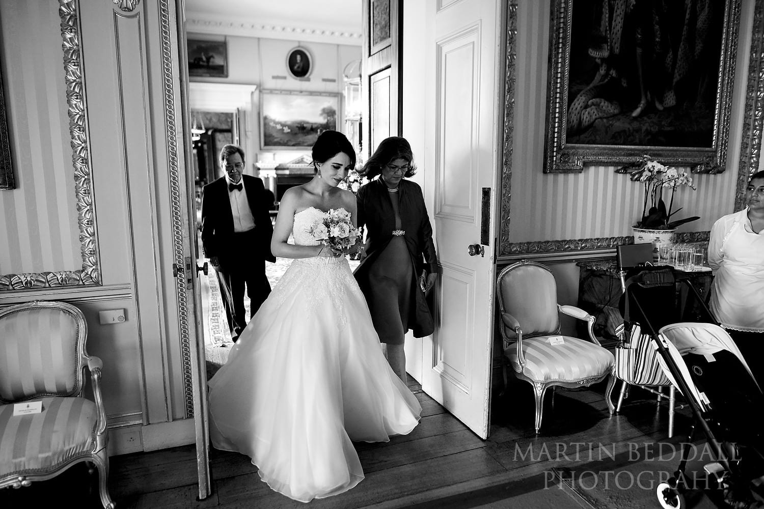 Start of the ceremony at Goodwood House wedding
