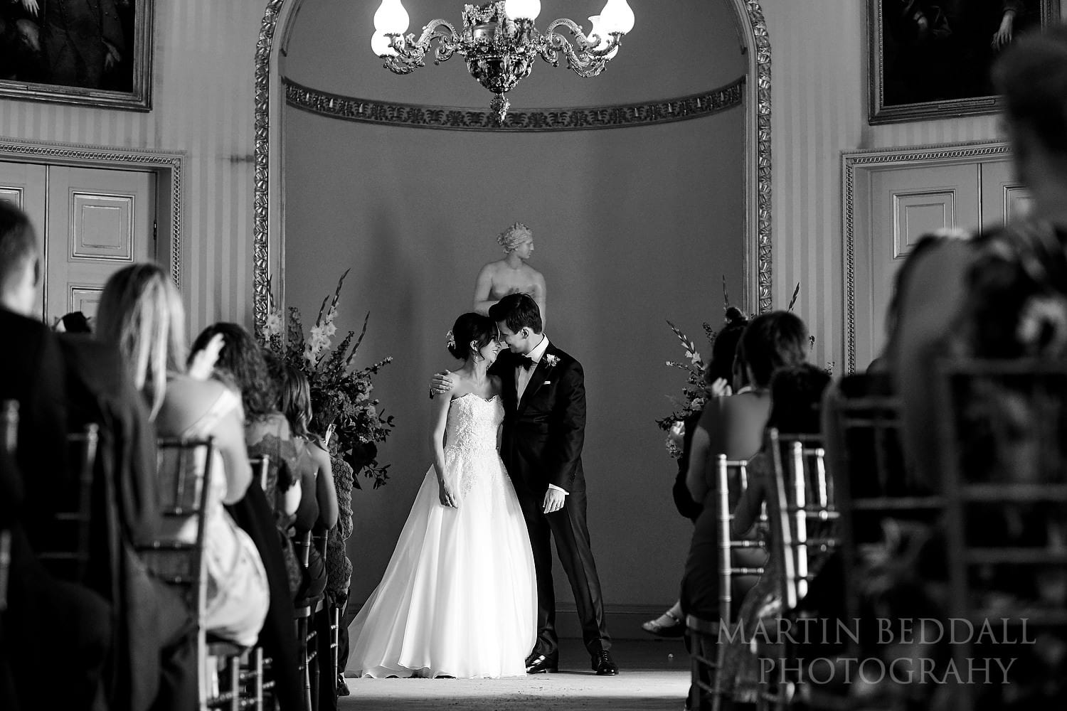 Goodwood House wedding ceremony ends