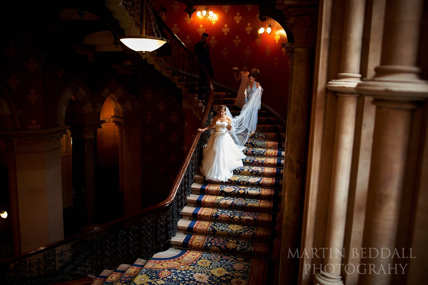 Bride at St Pancras hotel in London