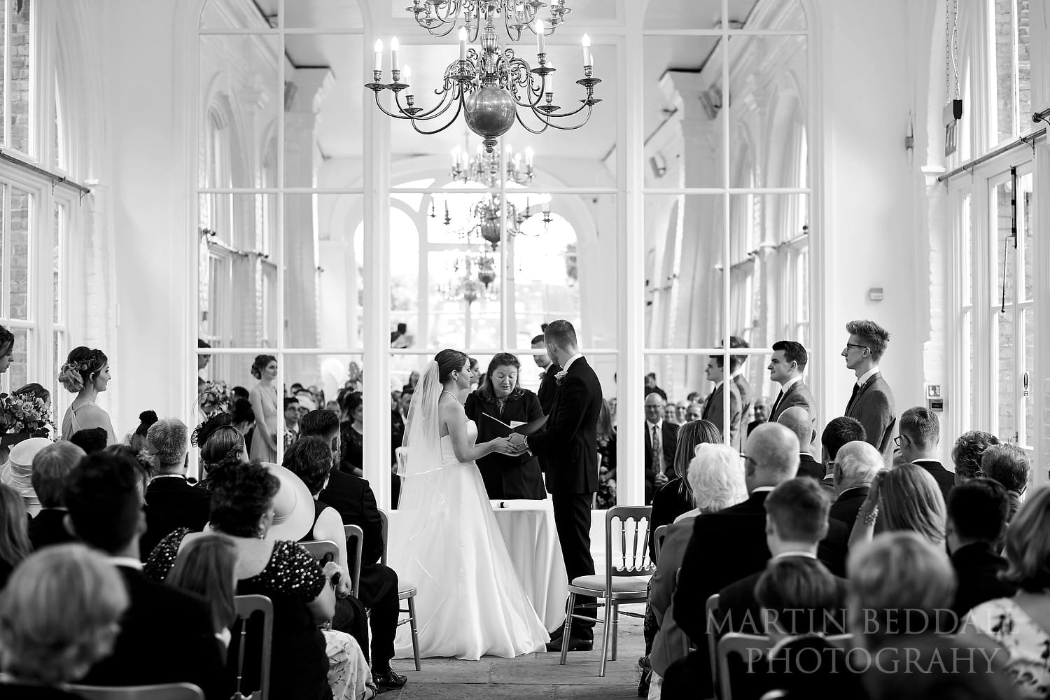 Wedding ceremony in The Orangery in Holland Park
