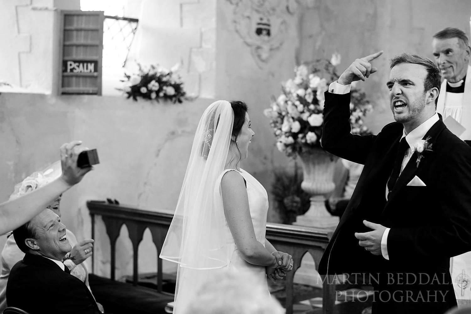 Groom reacts to getting married