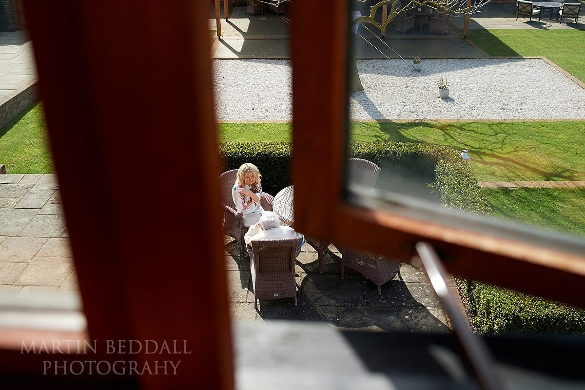 Bride chatting to her grandmother at Coltsfoot Country Retreat
