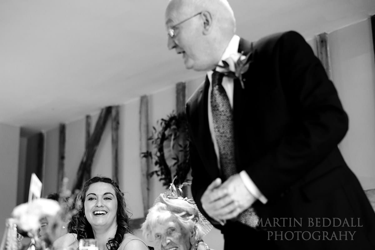 Coltsfoot Country Retreat wedding speeches