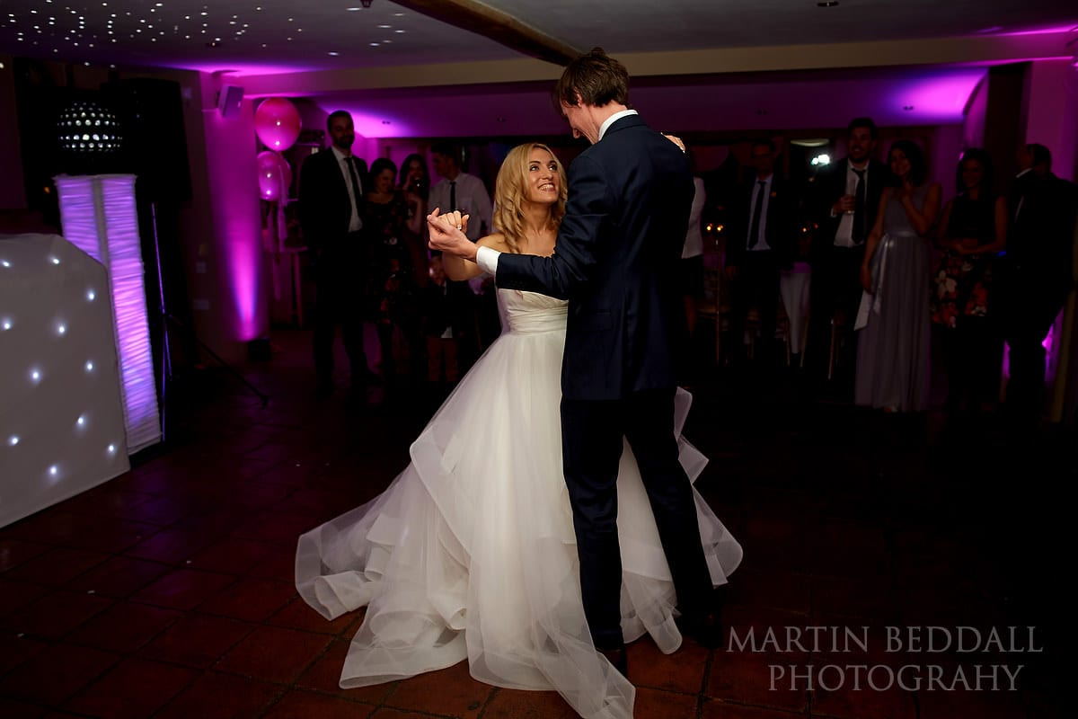 First dance at Coltsfoot Country Retreat wedding