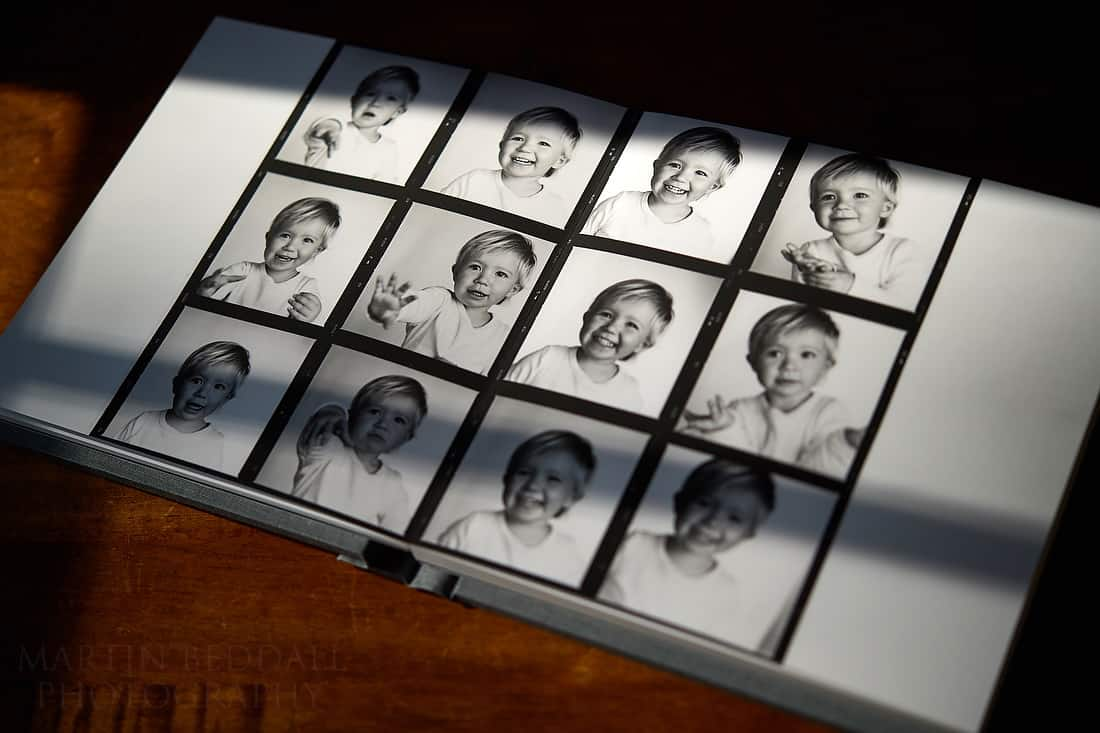 Book of childhood memories - contact sheet using Hasselblad 503CW camera