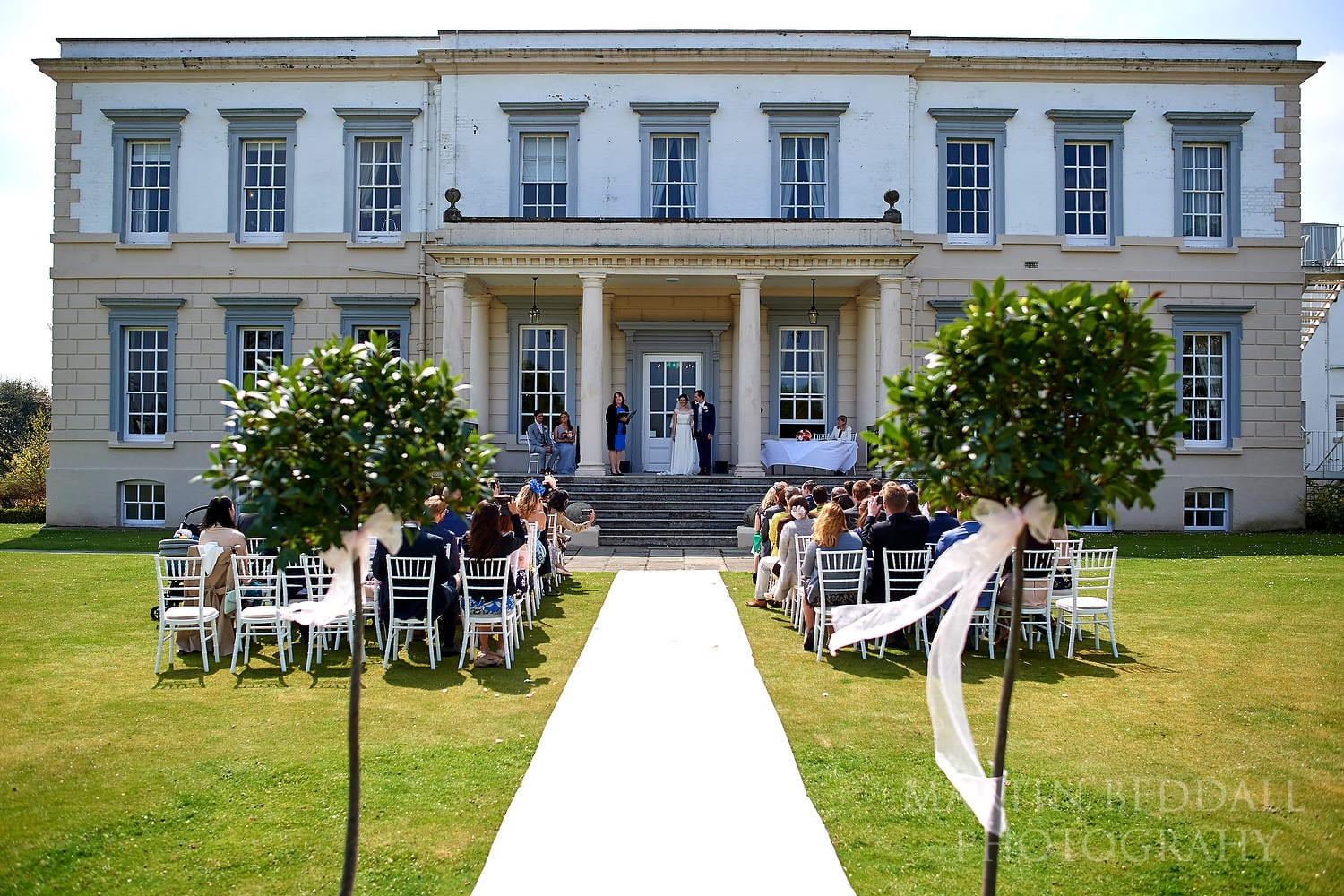 Buxted Park wedding outdoors