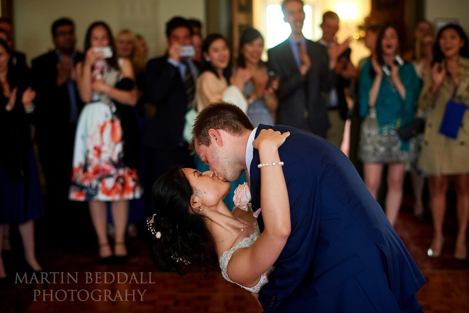 First dance kiss at Buxted Park