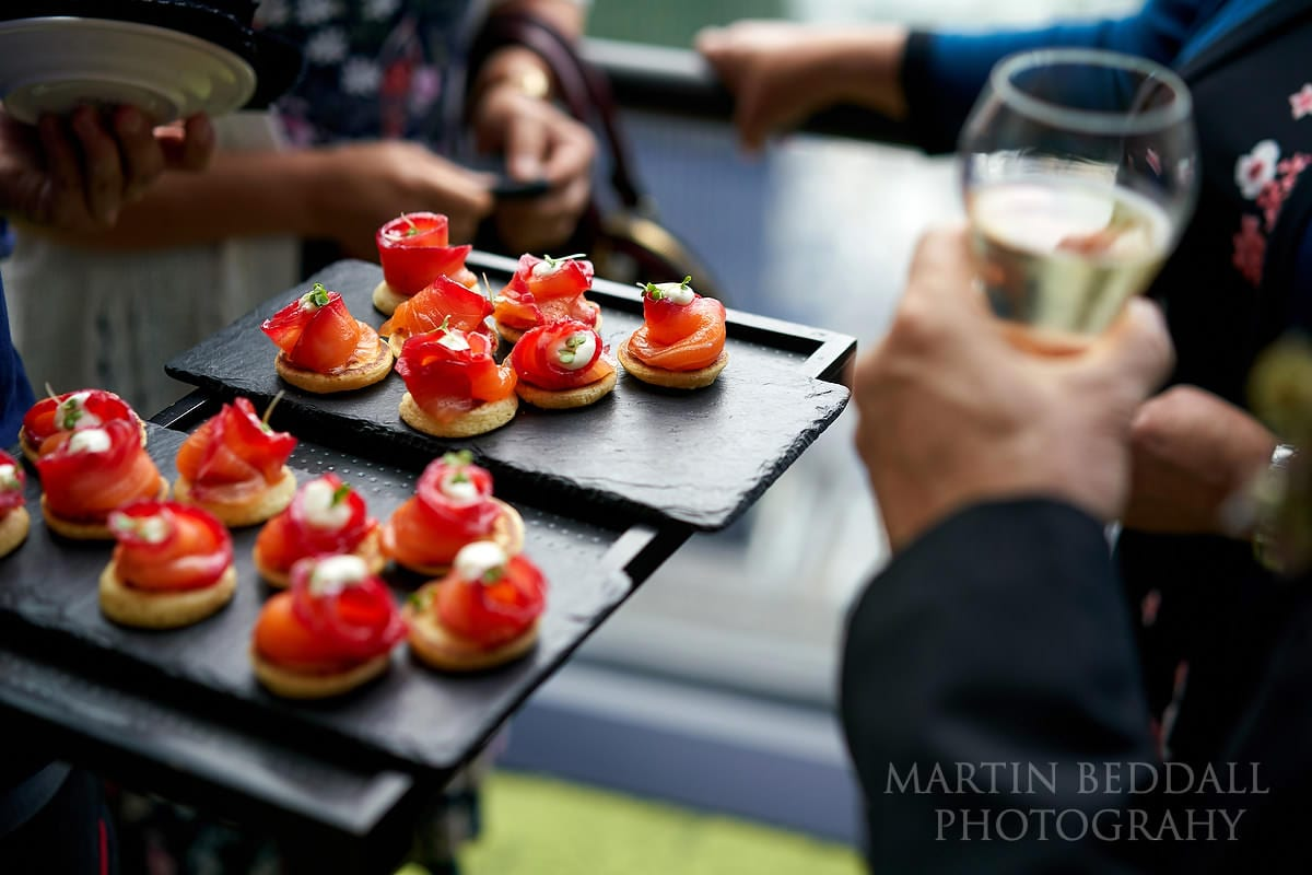 small London wedding canapes