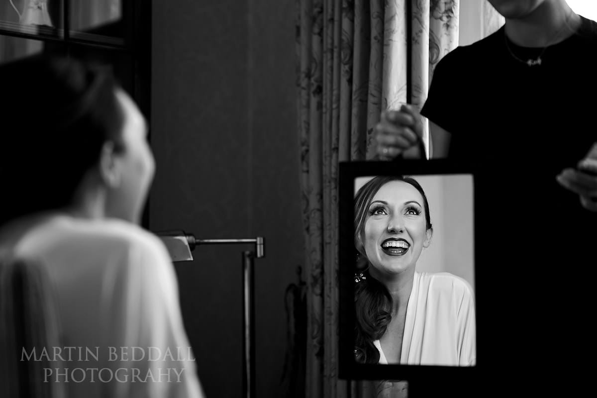 Bride getting ready at Horsted Place