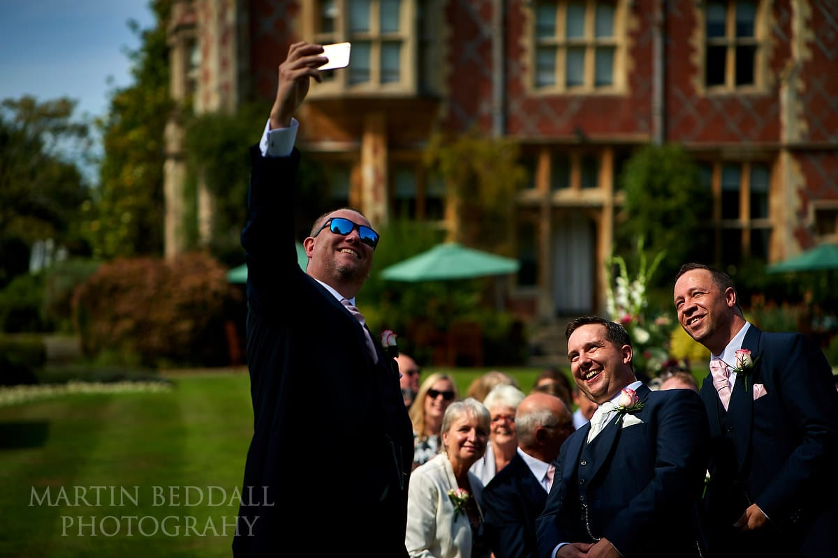 Selfie before the ceremony at Horsted Place