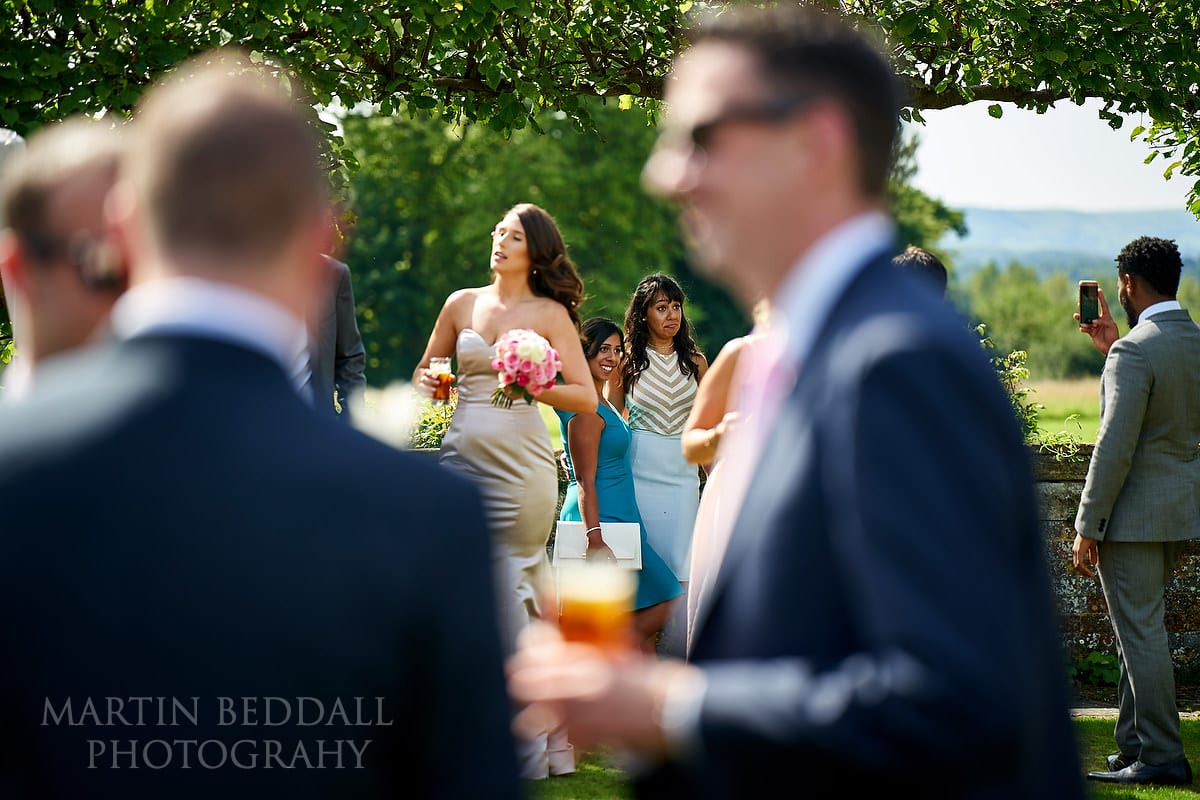 Wedding reception in the sunshine at Horsted Place