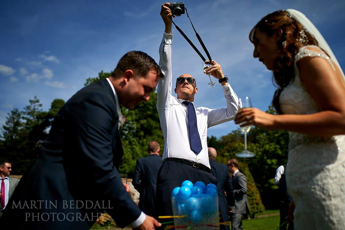 Photographing the wedding games