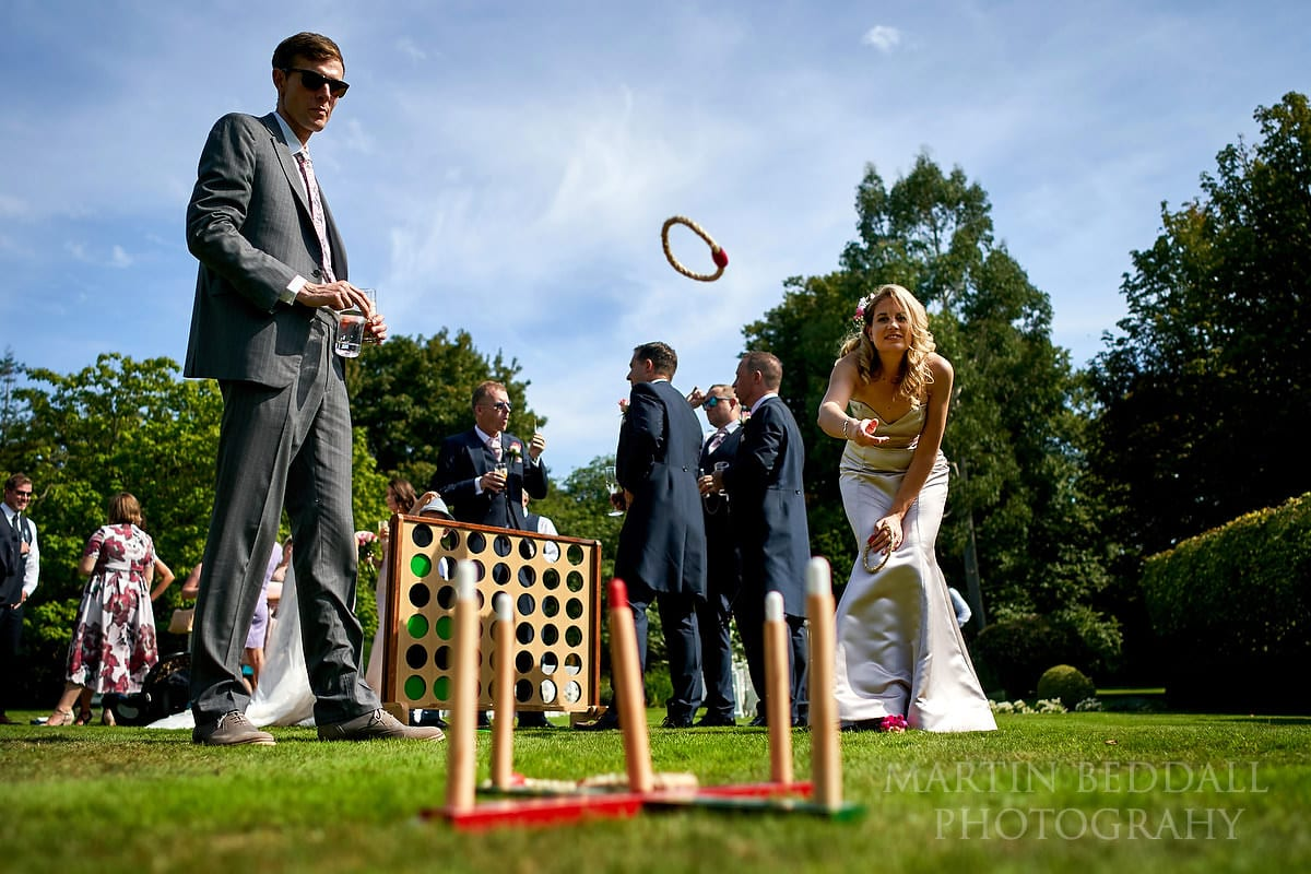Wedding games at Horsted Place