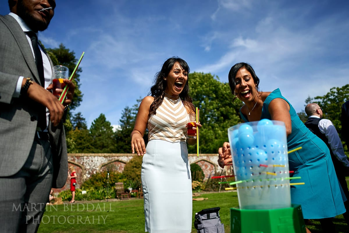 Games at Horsted Place wedding reception