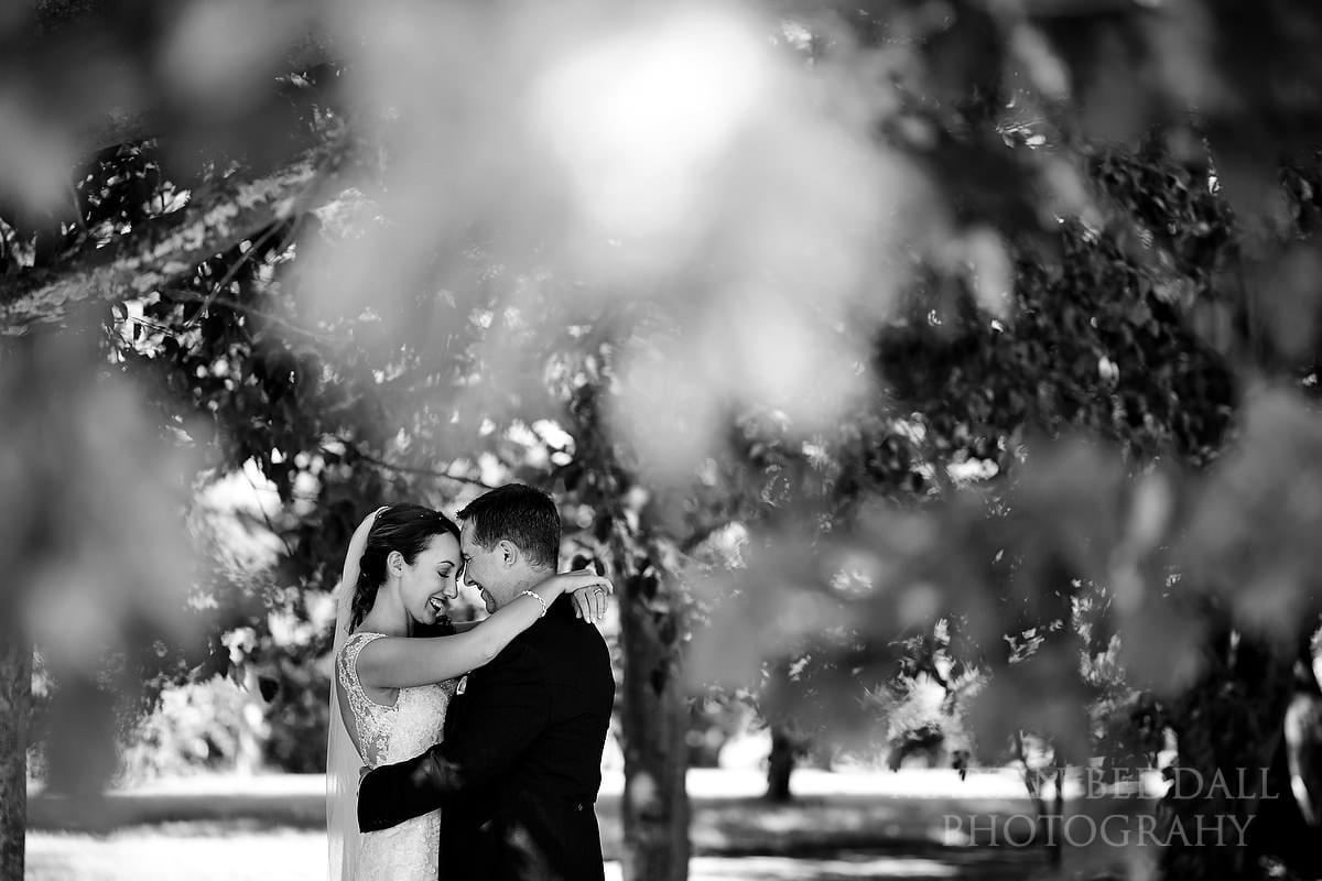 Bride and groom portrait at Horsted Place