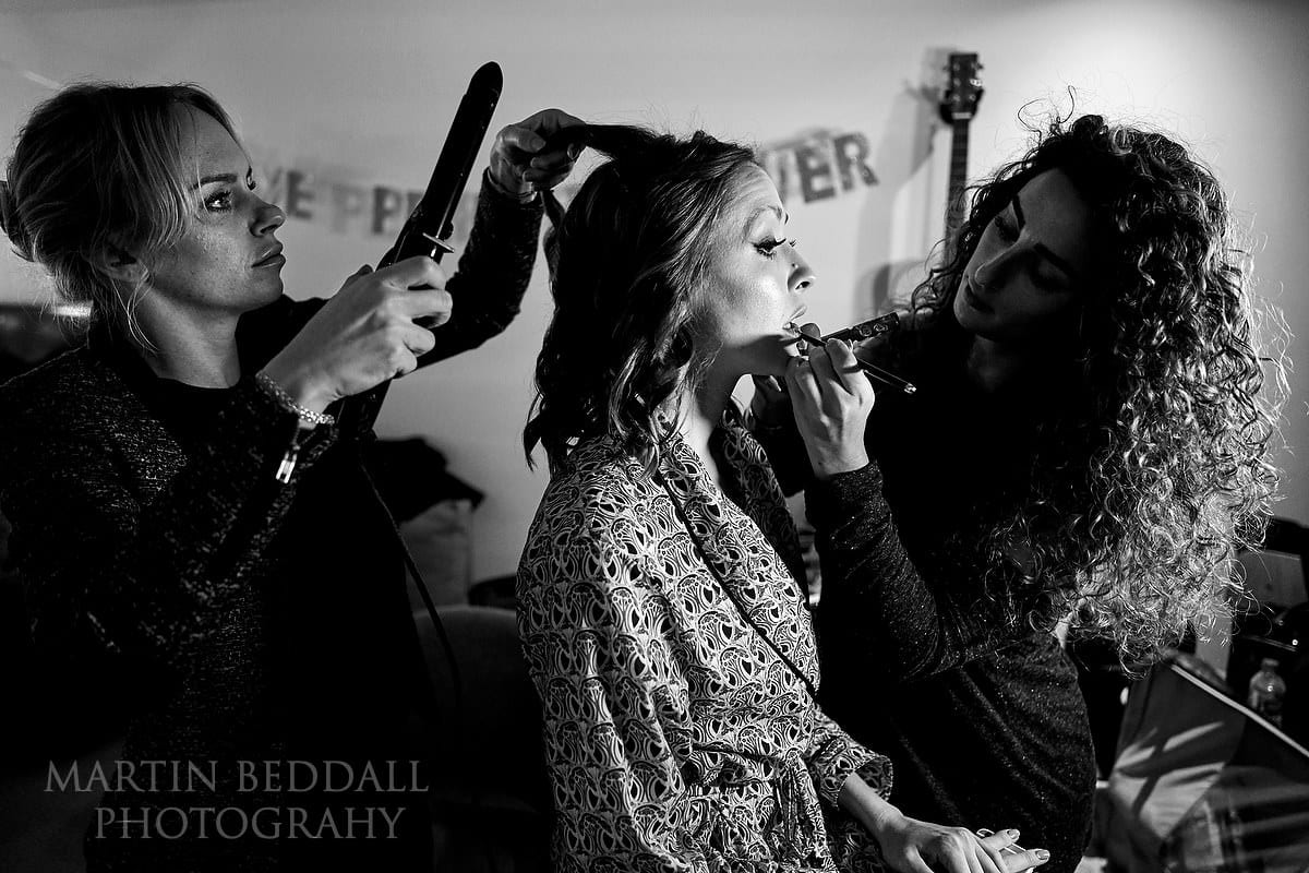 Hair and makeup for the Asylum Chapel bride