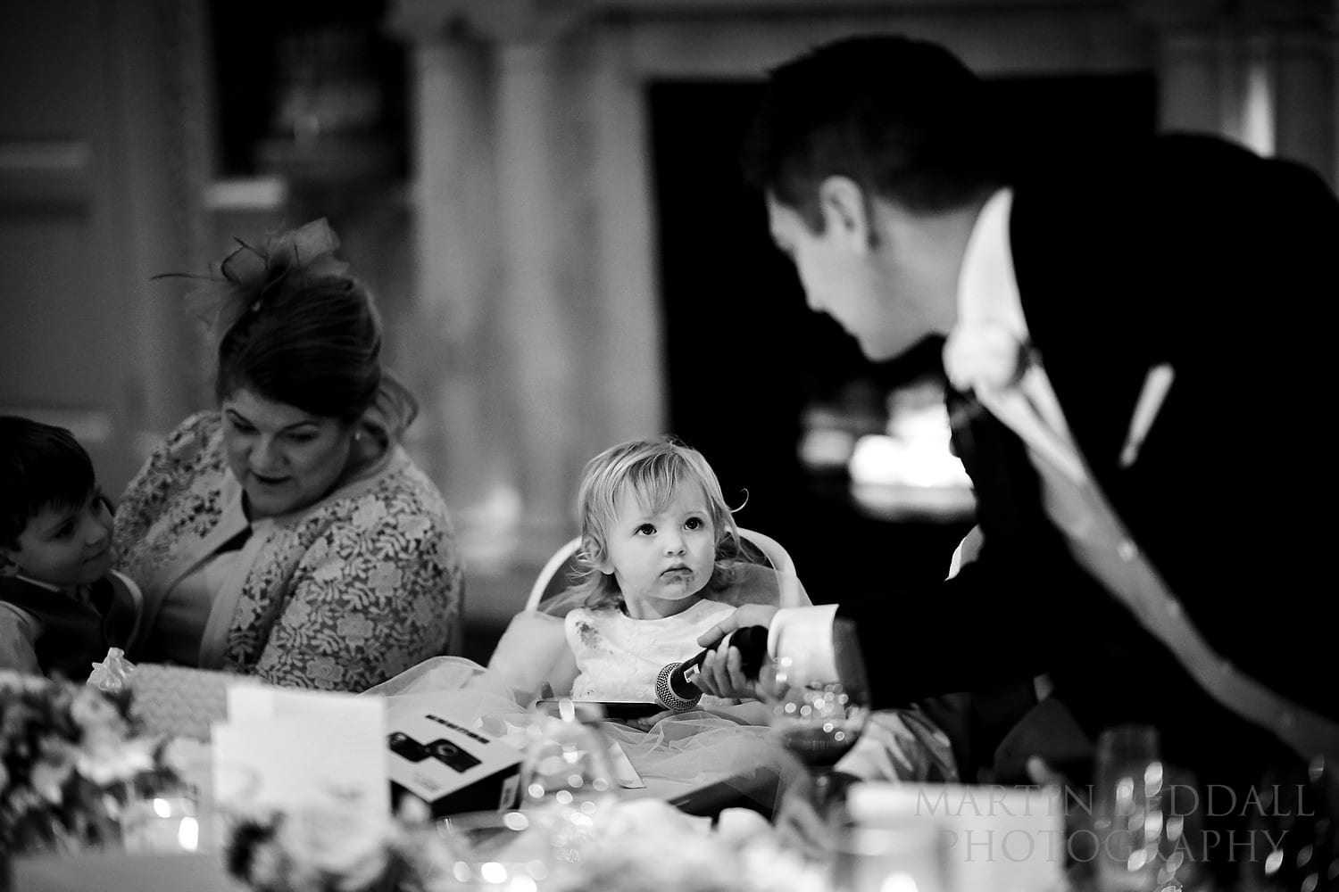 Giving her uncle a 'look'