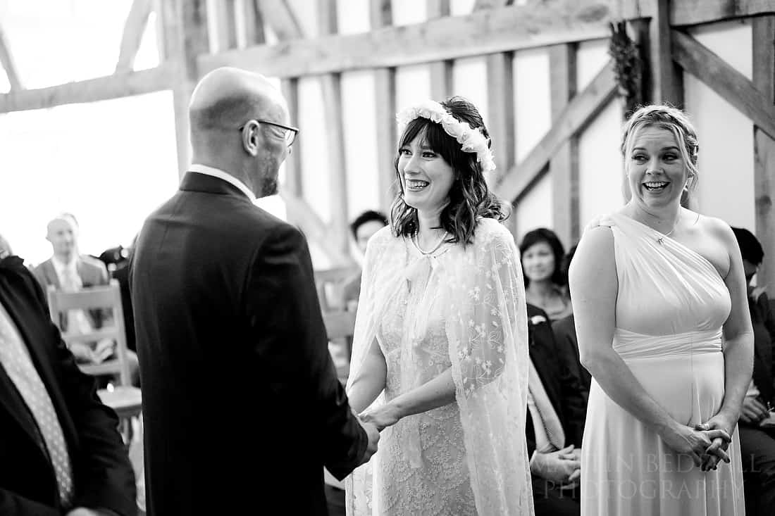 laughter during the wedding ceremony
