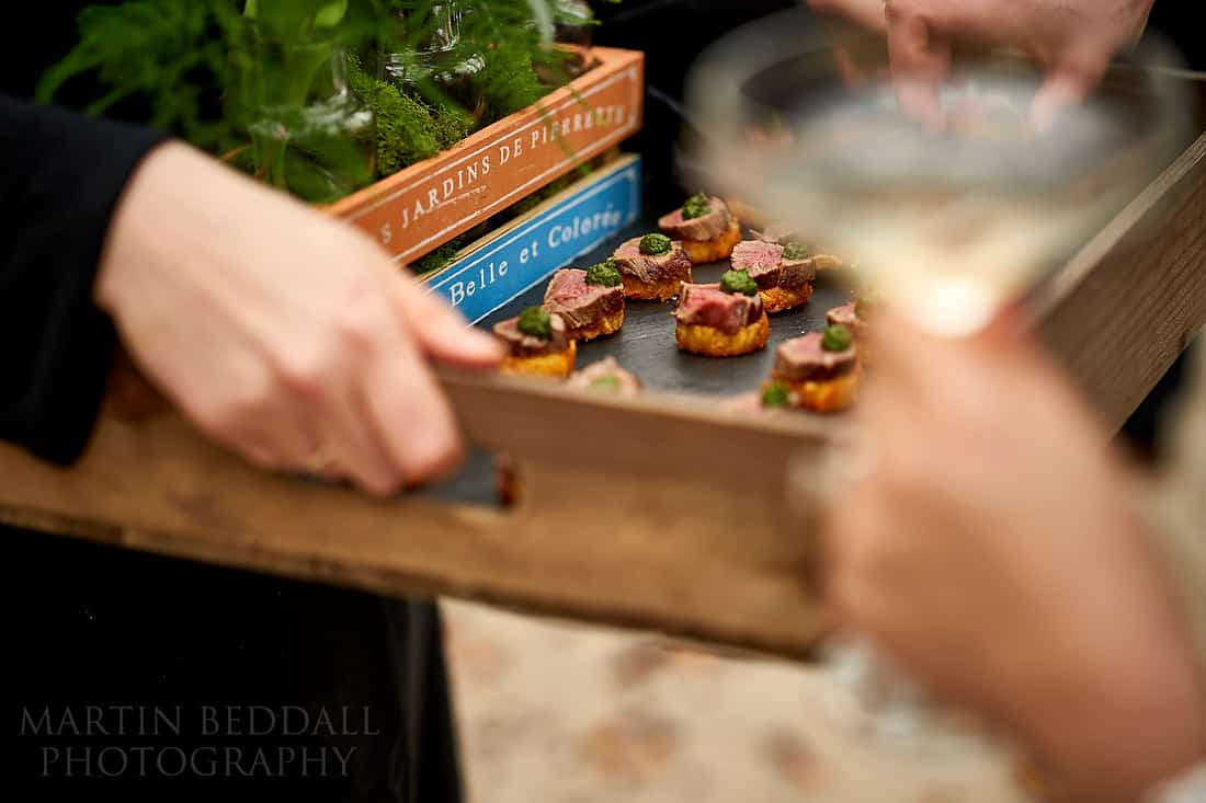 Delicious canapes from Jacaranda catering
