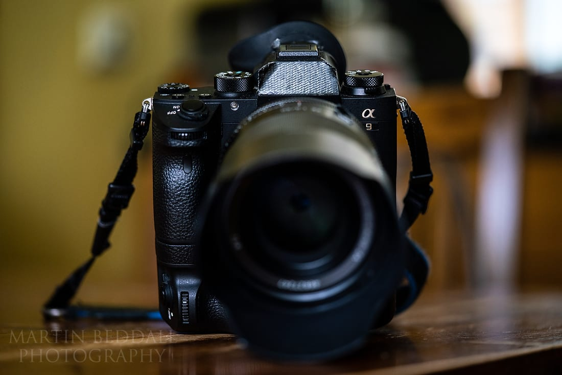 Front view of one of my Sony A9 cameras