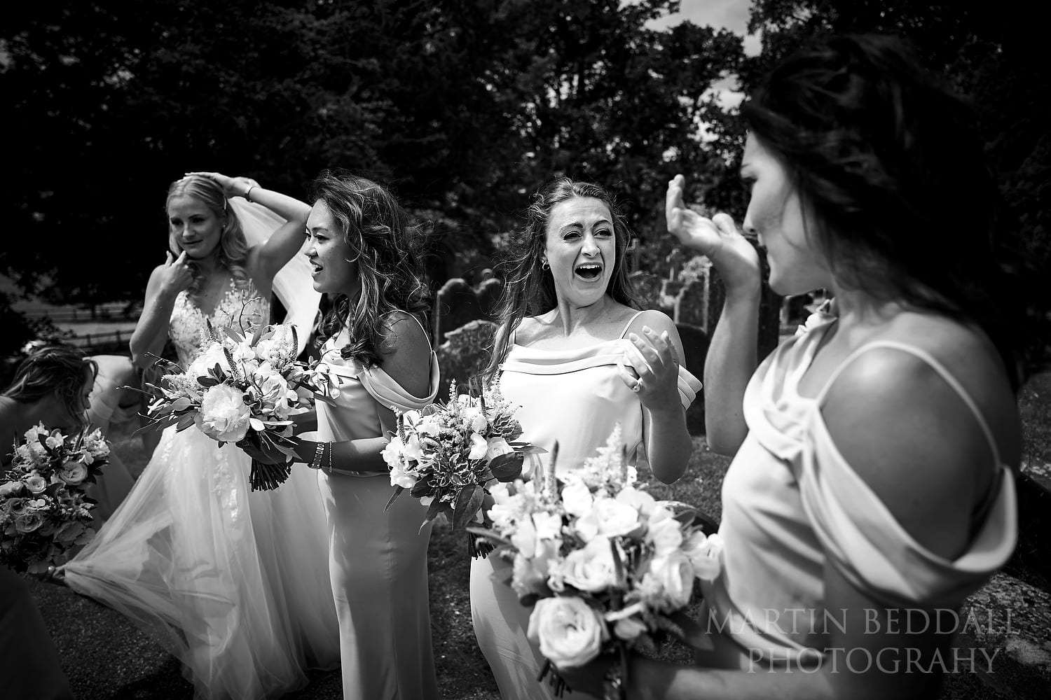 Bridesmaid swallows her chewing gum