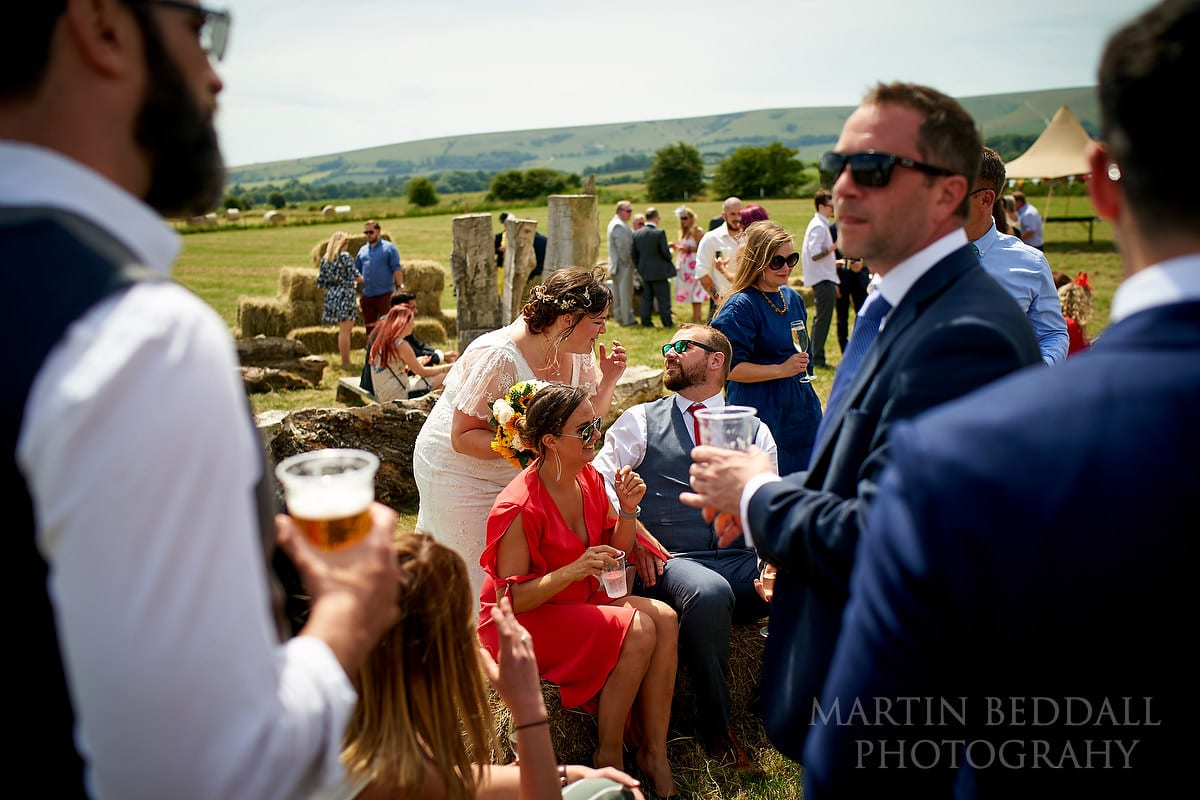 Reportage wedding photography at The Party Field