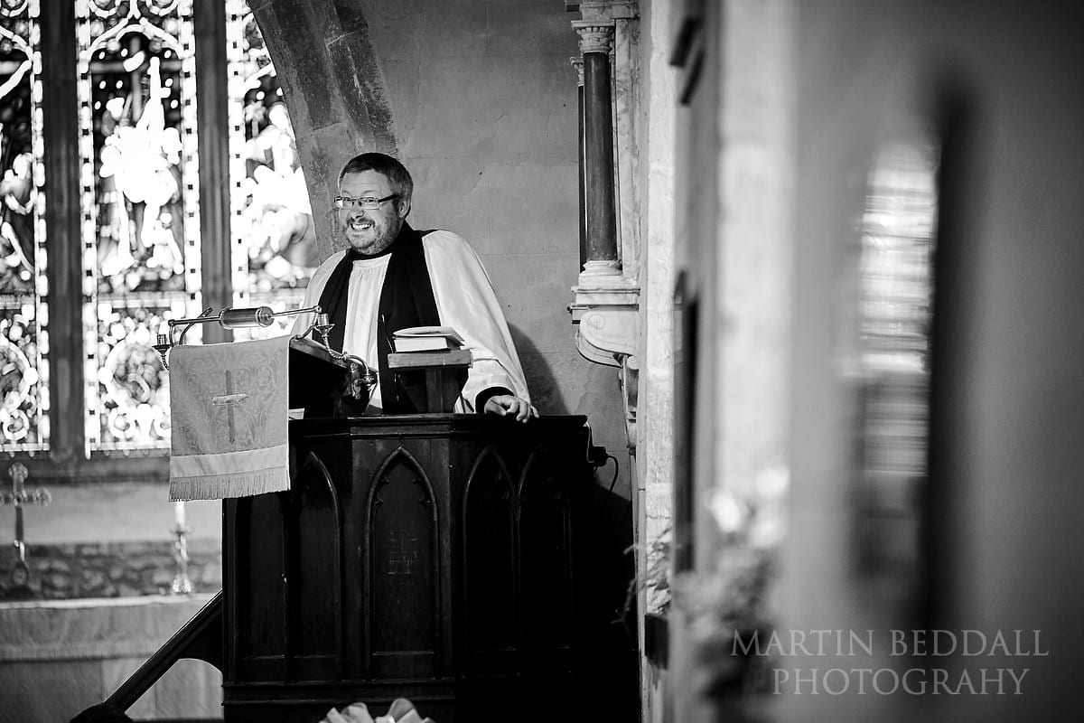 Vicar in the pulpit