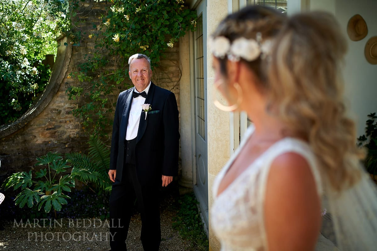 First look for the bride's father