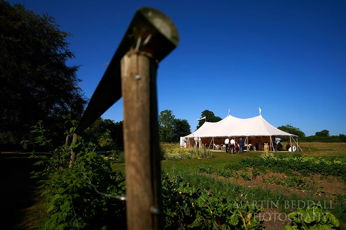 Barnsley House wedding marquee