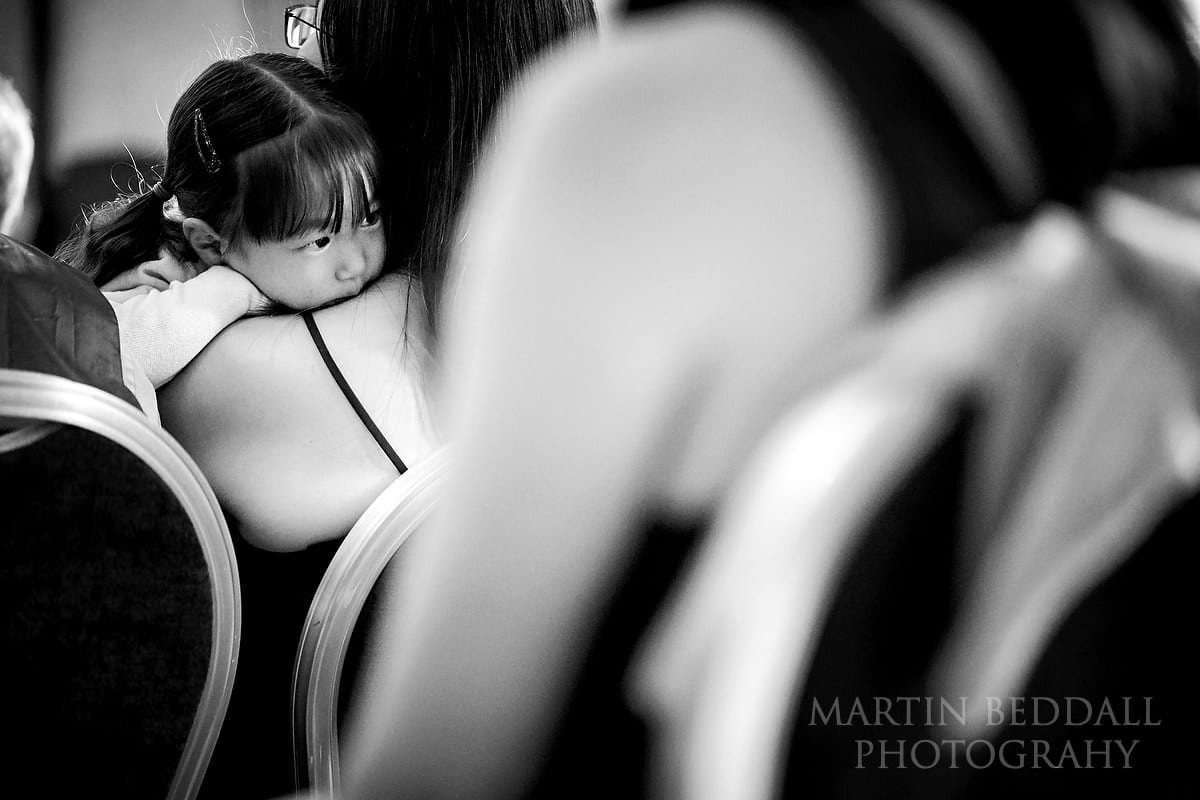 Young wedding guest at Bloomsbury House wedding