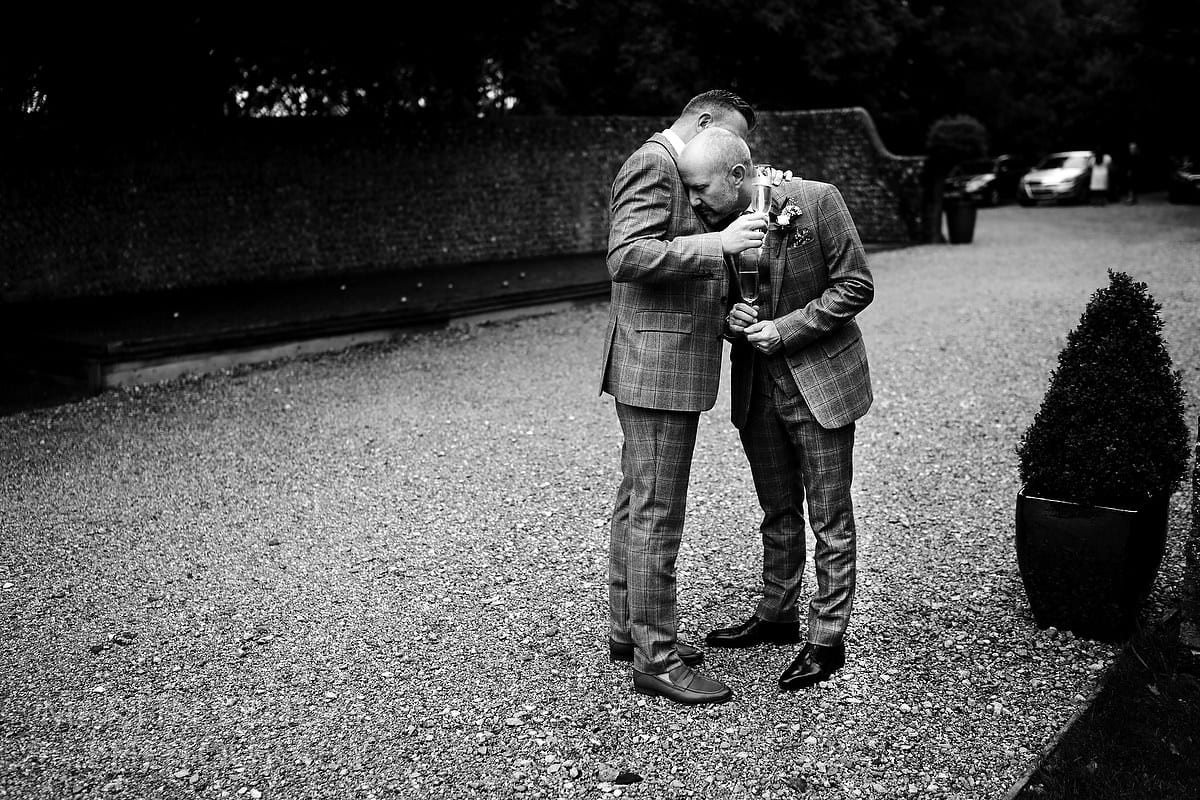 Quiet moment of reflection after the same-sex wedding ceremony