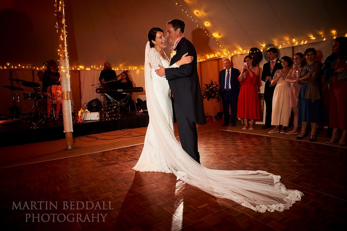 First dance at Ditchling wedding