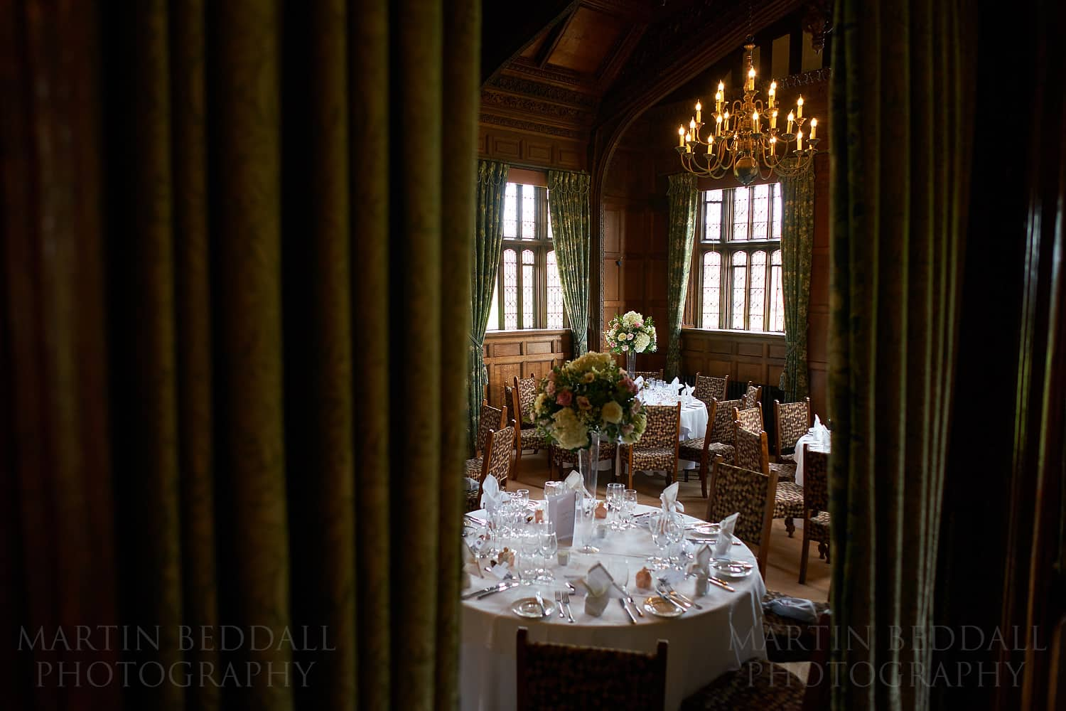Wedding meal in the Astor Wing